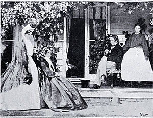 Henry Barnes Gresson - Justice Gresson with his wife and his two daughters in 1865. His son was studying at Cambridge University at the time.