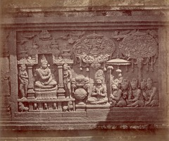KITLV 90040 - Isidore van Kinsbergen - Relief at Borobudur near Magelang - Around 1900.tif