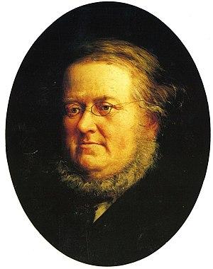 Peter Christen Asbjørnsen - Portrait of P. Chr. Asbjørnsen by Knud Bergslien, 1870