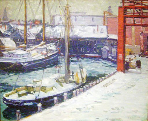 Kaelin Docks painting