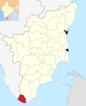 Localisation de District de Kanniyakumari