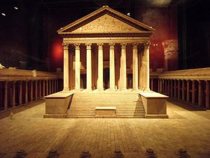 Colonia Claudia Ara Agrippinensium - Reconstructed model of the Capitoline Temple (early 2nd century AD)