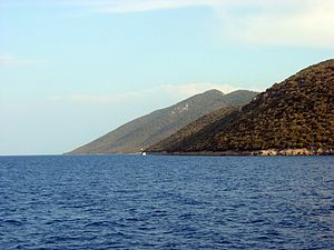 Kara Ada (Bodrum) - The island seen from West