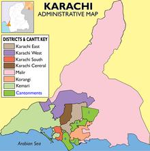 ou se trouve karachi