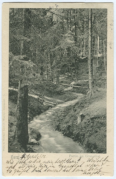 File:Karl F. Wunder PC 0004 Harz. Partie im Granethal.jpg