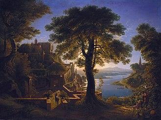 Karl Friedrich Schinkel - Castle by the River (Schloß am Strom)