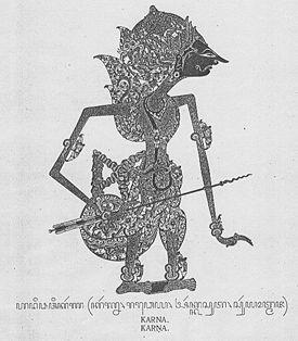 Karna dalam bentuk wayang versi Surakarta