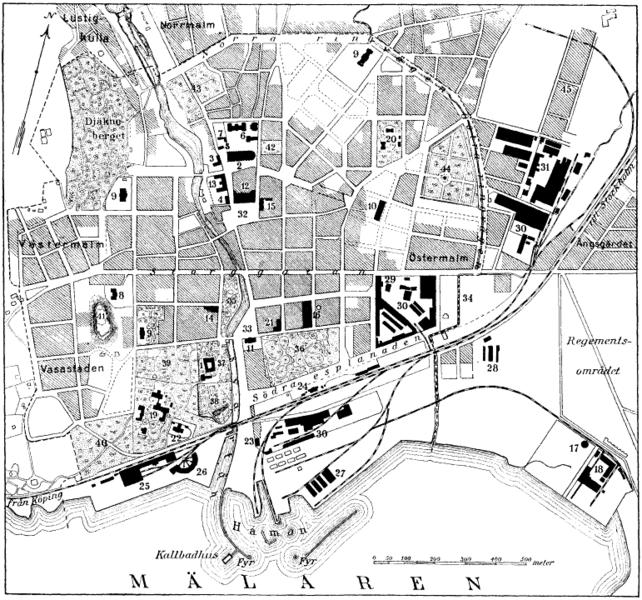 File:Karta över Västerås vid 1900-talets början.png