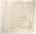 Karta över befäst stad vid strand - Skoklosters slott - 98082.tif