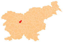 Vị trí của Medvode ở Slovenia