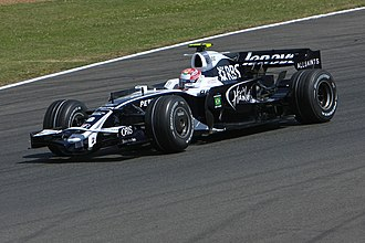 Kazuki Nakajima - Nakajima driving for Williams at the 2008 British Grand Prix.