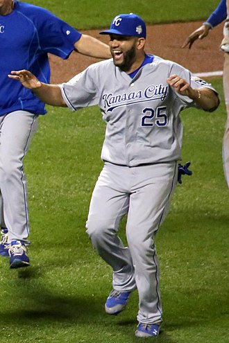 Kendrys Morales - Morales with the Kansas City Royals in 2015 World Series