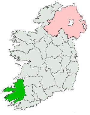 Kerry (Dáil Éireann constituency) - Image: Kerry Dáil constituency 1923 1937