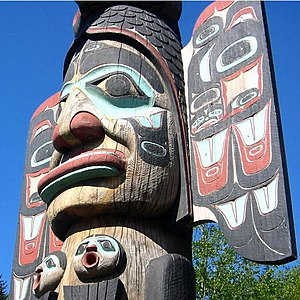 Ketchikan, Alaska. Native American totem pole