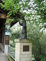 Ketsch, statue of St. Johannes Nepomuk and bridge to Ketscher Rheininsel - panoramio.jpg