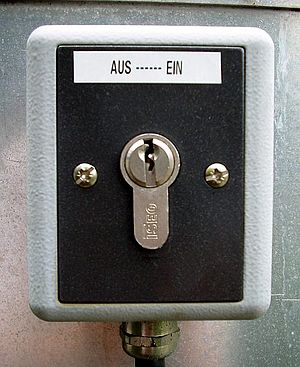 Key switch - On/off key switch