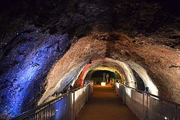 Khewra Salt Mine - Crystal Deposits on the mine walls.jpg
