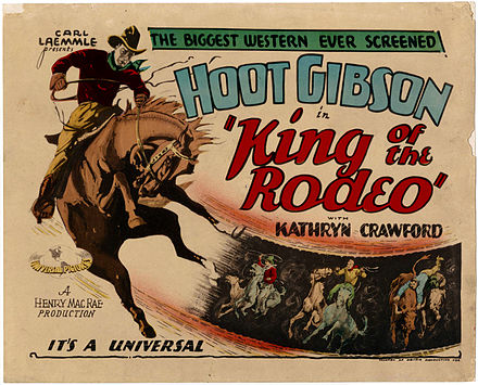 Hoot Gibson dans King of the Rodeo en 1929