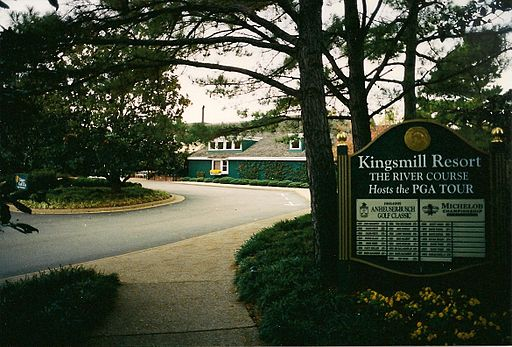 Kingsmill Golf Club sign 2002
