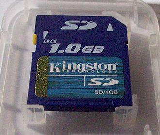 Kingston Technology - Image: Kingston S Dcard 1GB