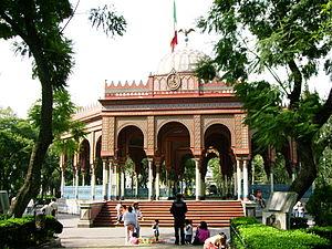 Colonia Santa María la Ribera - Alameda de Santa María la Ribera, City of Mexico.  In the background lies the Morisco Kiosk