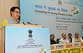 Kiren Rijiju addressing at the World Population Day celebrations, in New Delhi on July 17, 2014. The Union Home Minister, Shri Rajnath Singh and the Union Home Secretary, Shri Anil Goswami are also seen.jpg