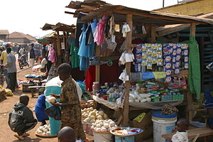 Kissidougou market on a quiet day.
