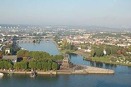 Koblenz Deutsches Eck mit Kaiser-Wilhelm-Denkmal