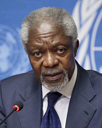 Sakharov Prize - Kofi Annan, recipient of the prize in 2003.