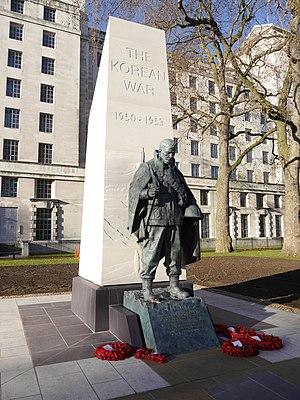 Korean War Memorial, London - The memorial two weeks after its unveiling