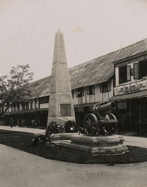 North Borneo War Monument - The monument in 1923
