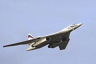 Bomber - A Russian Tupolev Tu-160 strategic bomber.