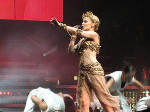 "Impossible Princess - Minogue performing ""Too Far"" during her Showgirl: The Homecoming tour, 2006."