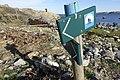 "Kyststien skilt (""Coastal footpath"" walking trail wooden sign) Hvasser Sydsletta Færder Oslofjorden Norway 2020-05-08 7246.jpg"