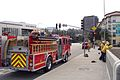 LACFD engine 7 and swift water rescue training Lankershim 2015-11-15.jpg