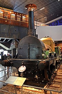 LMR 57 <i>Lion</i> preserved early British 0-4-2 locomotive