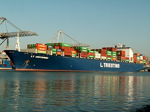 LT Universo, at the Amazone harbour, Port of Rotterdam, Holland 14-Jan-2006.jpg