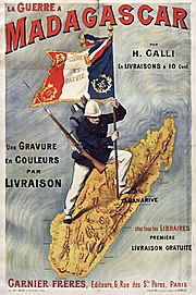 Poster of a H. Galli book about the French war in Madagascar.