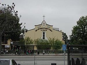 La Iglesia de Nuestra Señora la Reina de los Ángeles - Image: La Placita Church From Spring Street 2