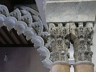 Aljafería - Capitals in the Taifal palace