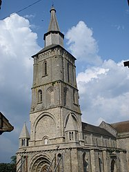 The bell tower of the church in La Souterraine