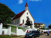 La iglesia de San Luis en las islas de San Andres Colombia retouched