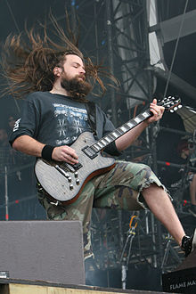 Lamb of God guitarist Mark Morton at With Full Force 2007