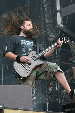Sacrament Tour - Guitarist Mark Morton performing at the With Full Force music festival in 2007.