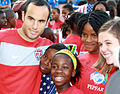 Landon Donovan with fans in South Africa 2010.jpg