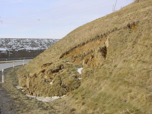 Slope stability - Figure 2: Real life landslide on a slope
