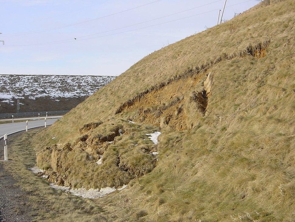 Landslide Böschungsrutschung