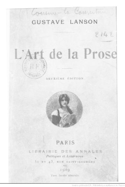 File:Lanson - L'Art de la prose, 1909, 2e éd.djvu