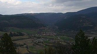 Lanuéjols, Lozère - A general view of Lanuéjols, from Mont Mimat