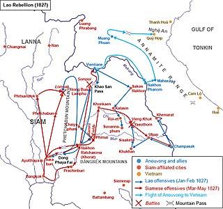 Lao rebellion (1826–1828) Rebellion of the Kingdom of Vientiane against Siam